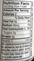 Sencha Shot - Nutrition facts
