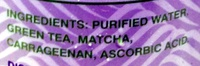 Unsweetened Matcha Love - Ingredients