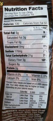 Gluten free bunches of crunches superfood granola - Valori nutrizionali - en
