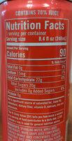 Sparkling Grapefruit - Nutrition facts