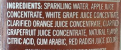 Izze Sparking Grapefruit - Ingredients - fr