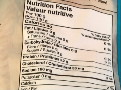 Haddock filets - Informations nutritionnelles - fr