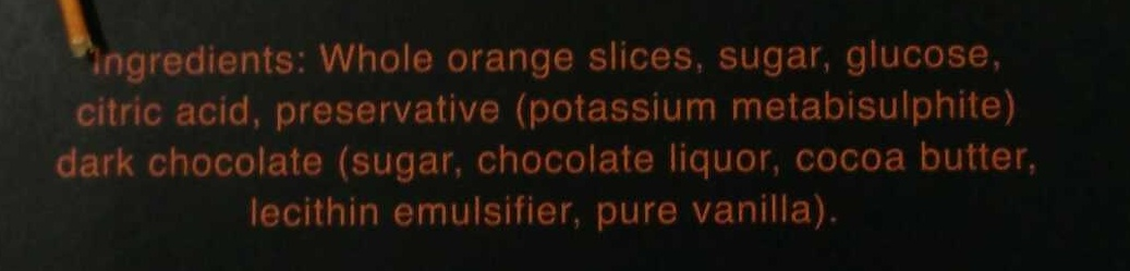 Chocolat Dipped Oranges - Ingredients