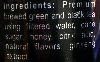 Green Tea natural cherry flavored - Ingredients