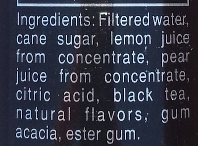 Premium tea & lemonade - Ingredients