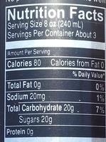 Premium tea & lemonade - Nutrition facts