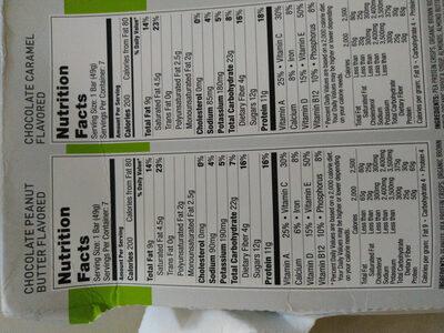 protein + snack bar - Informations nutritionnelles - en