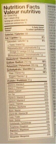 Boisson frappée tout en un - Informations nutritionnelles - en