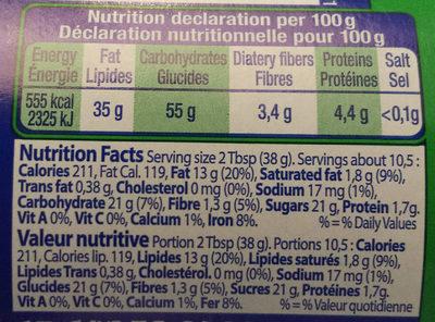 Delinut Original - Nutrition facts