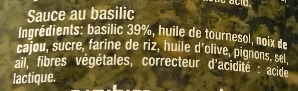 Pesto - Ingrediënten - fr