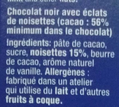 Noisettes Grillées Noir - Ingredients