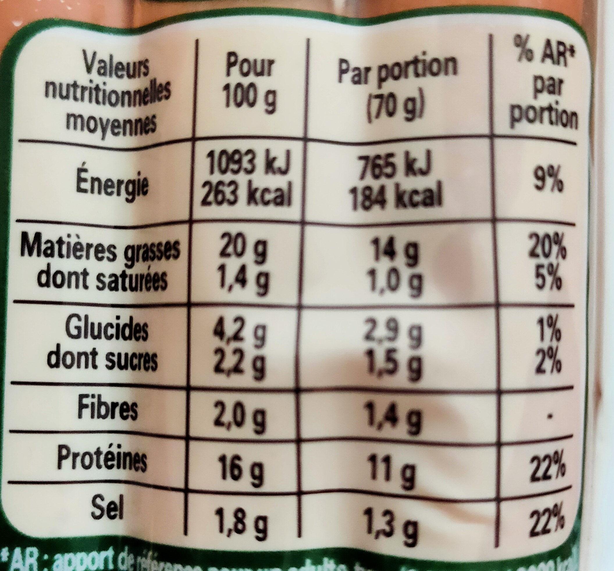 eau minérale naturelle  hepar - Valori nutrizionali - fr