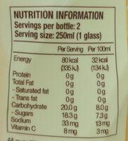 Natsbee - Voedingswaarden - en