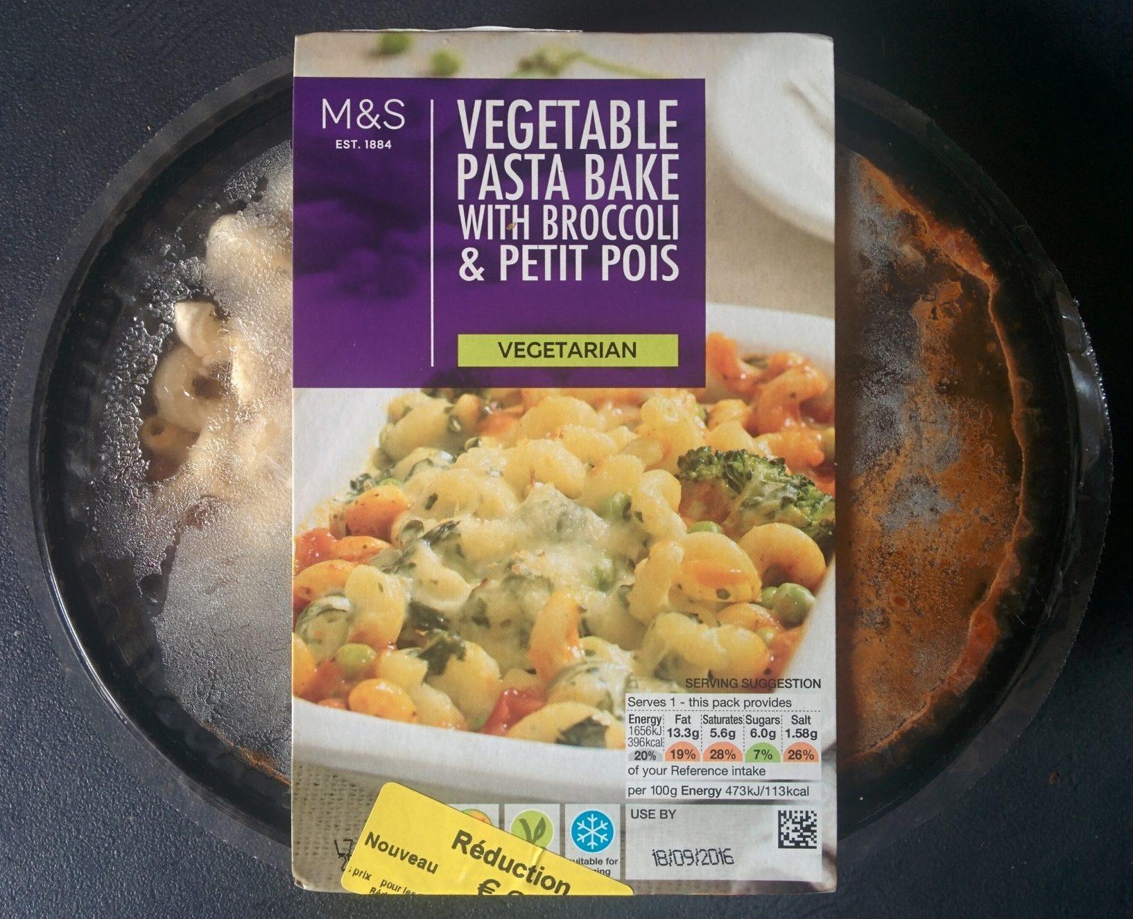 Vegetable Pasta Bake with Broccoli & Petit Pois - Produit - fr