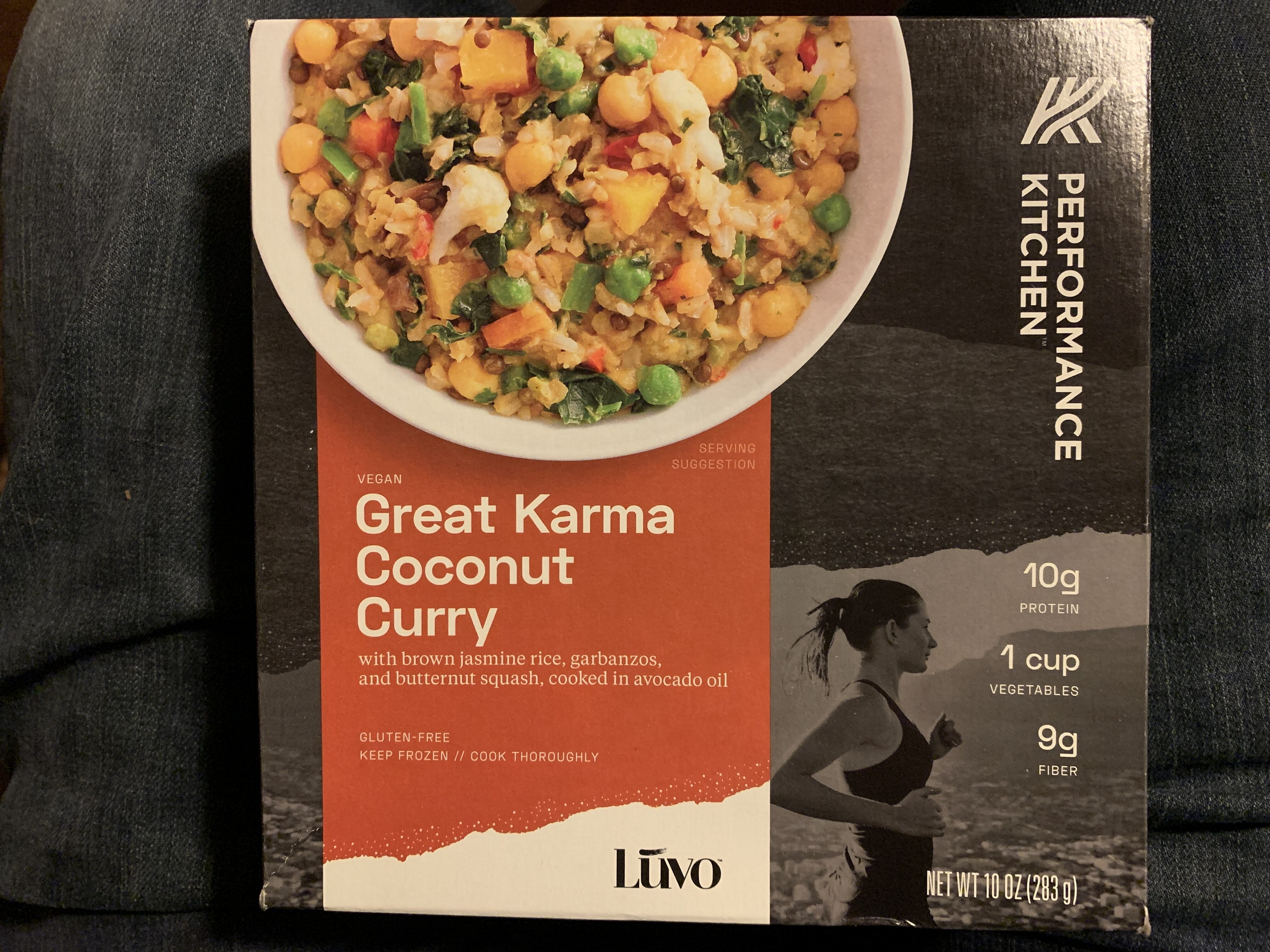 Great karma coconut curry bowl with brown jasmine rice, garbanzos, and butternut squash, cooked in avocado oil, great karma coconut curry - Product - en