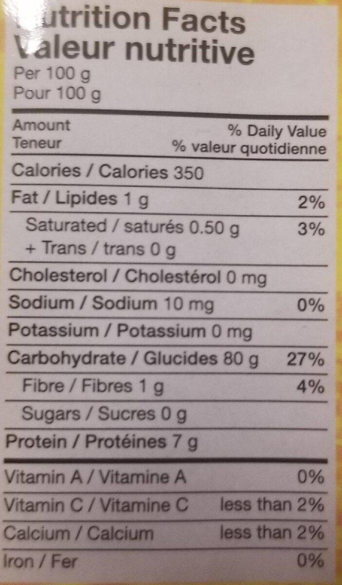 Nouilles de riz - Informations nutritionnelles - fr