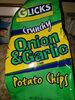 glicks  crunchy onion and garlic flavor - Product