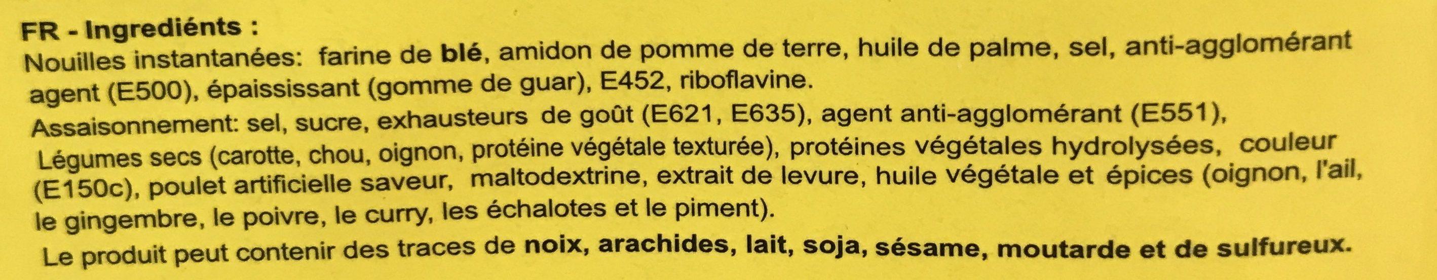 Chicken - Zutaten - fr