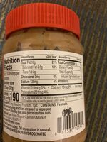 Old Fashioned Peanut Butter Creamy - Nutrition facts - en