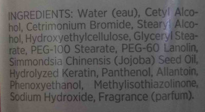 Pure Romance conditioning shaving cream - Ingredients