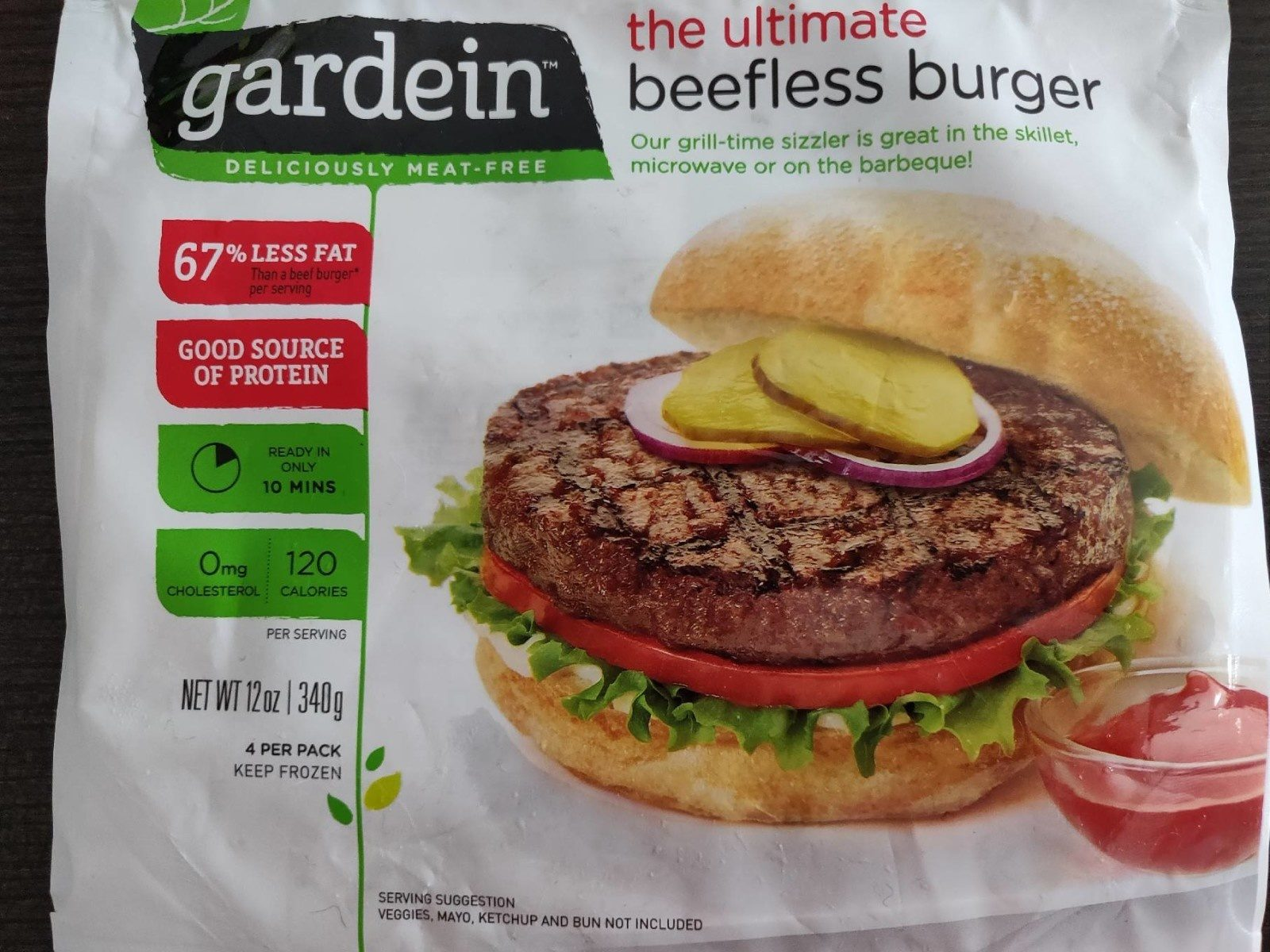 The ultimate beefless burger - Produit