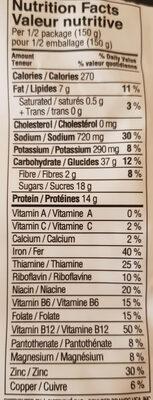 Croustillant végé - Informations nutritionnelles - en