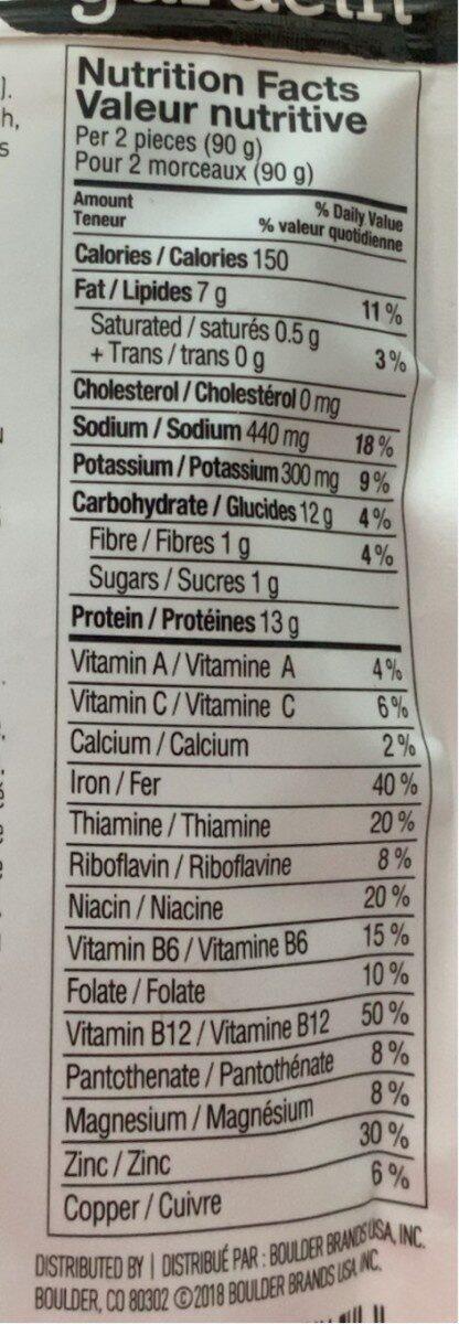 Crispy fingers - Informations nutritionnelles - fr