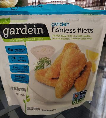 Gardein, golden fishless filets - Product - en