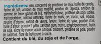 Filets végés - Ingrédients - fr