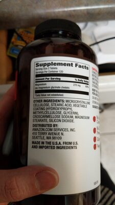 Amazon chelated magnesium - Ingredients - en