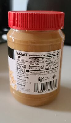 Creamy Peanut Butter - Valori nutrizionali - en