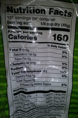Enriched Long Grain White Rice - Ingredients - en