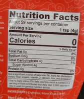 Monkfruit Sweetener (Golden) - Nutrition facts - fr