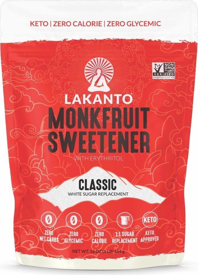Monkfruit sugar substitute keto non-gmo classic white - Product - en