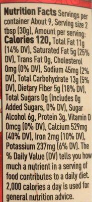Suntella - Informations nutritionnelles