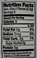 Sugar free and gluten free gourmet gum - Nutrition facts - en