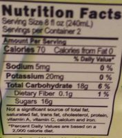 Vivaloé Honeydew Aloe - Nutrition facts