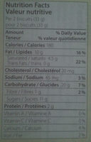 Biscuits with lemon filling pastries - Nutrition facts - en