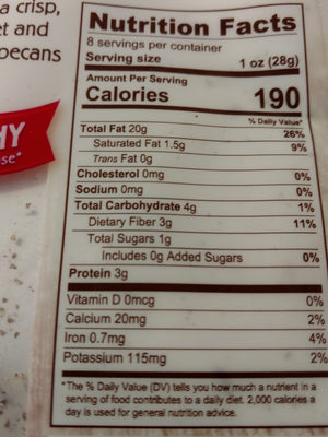 Pecan Halves - Nutrition facts