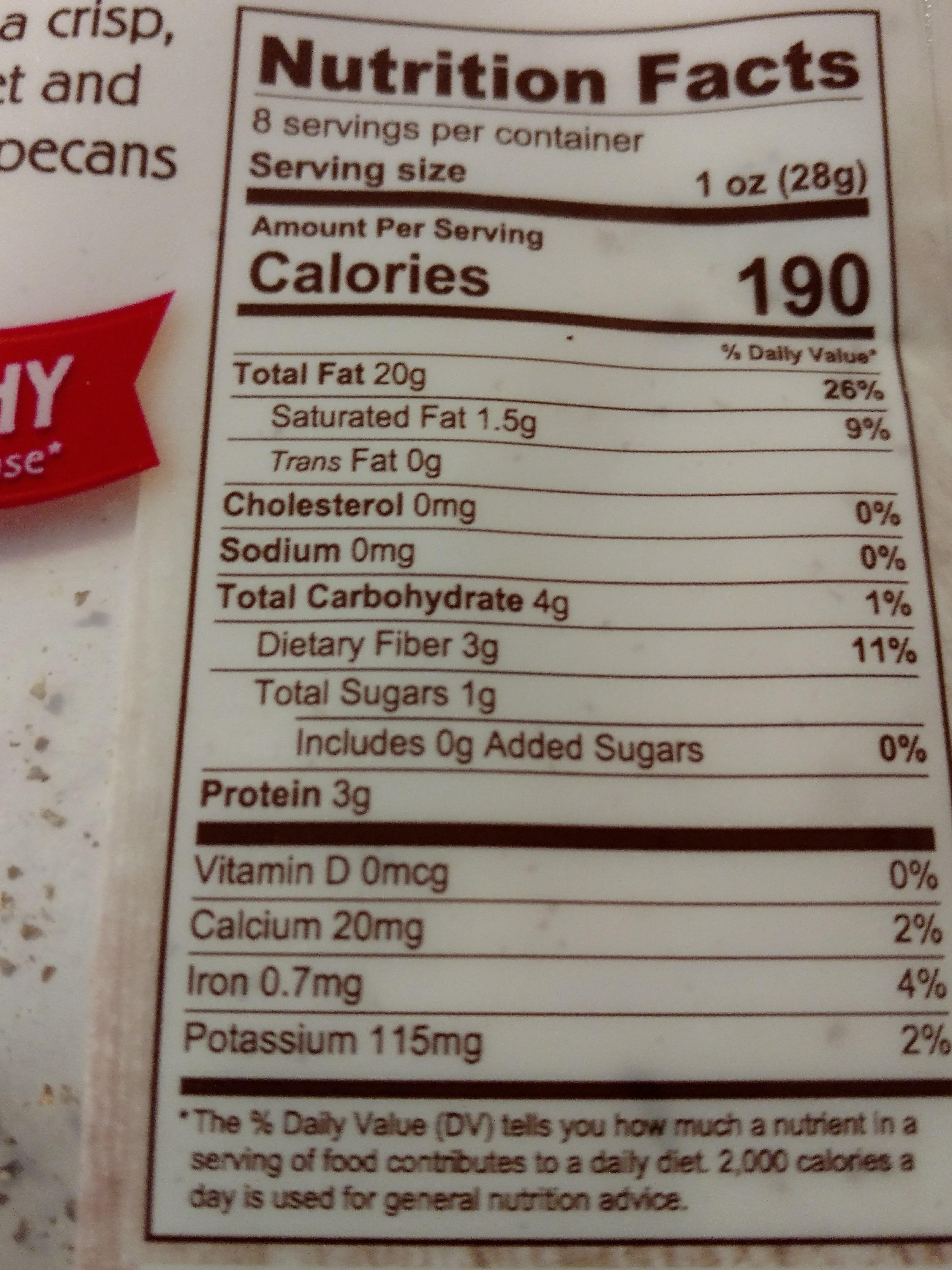 Pecan Halves - Nutrition facts - en