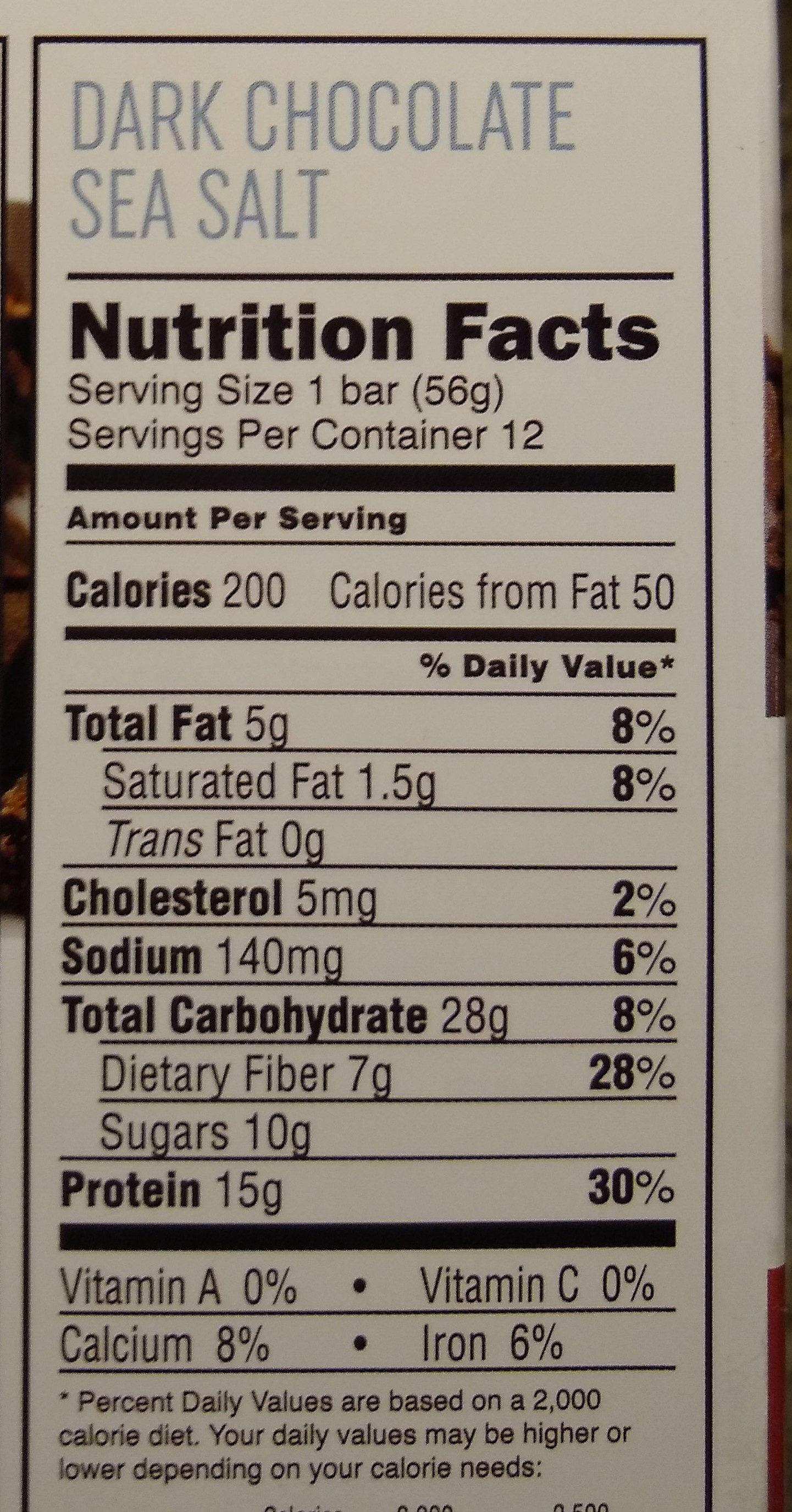 Clean Protein bar Dark Chocolate - Nutrition facts - en