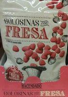 Golosinas con fresa - Producto
