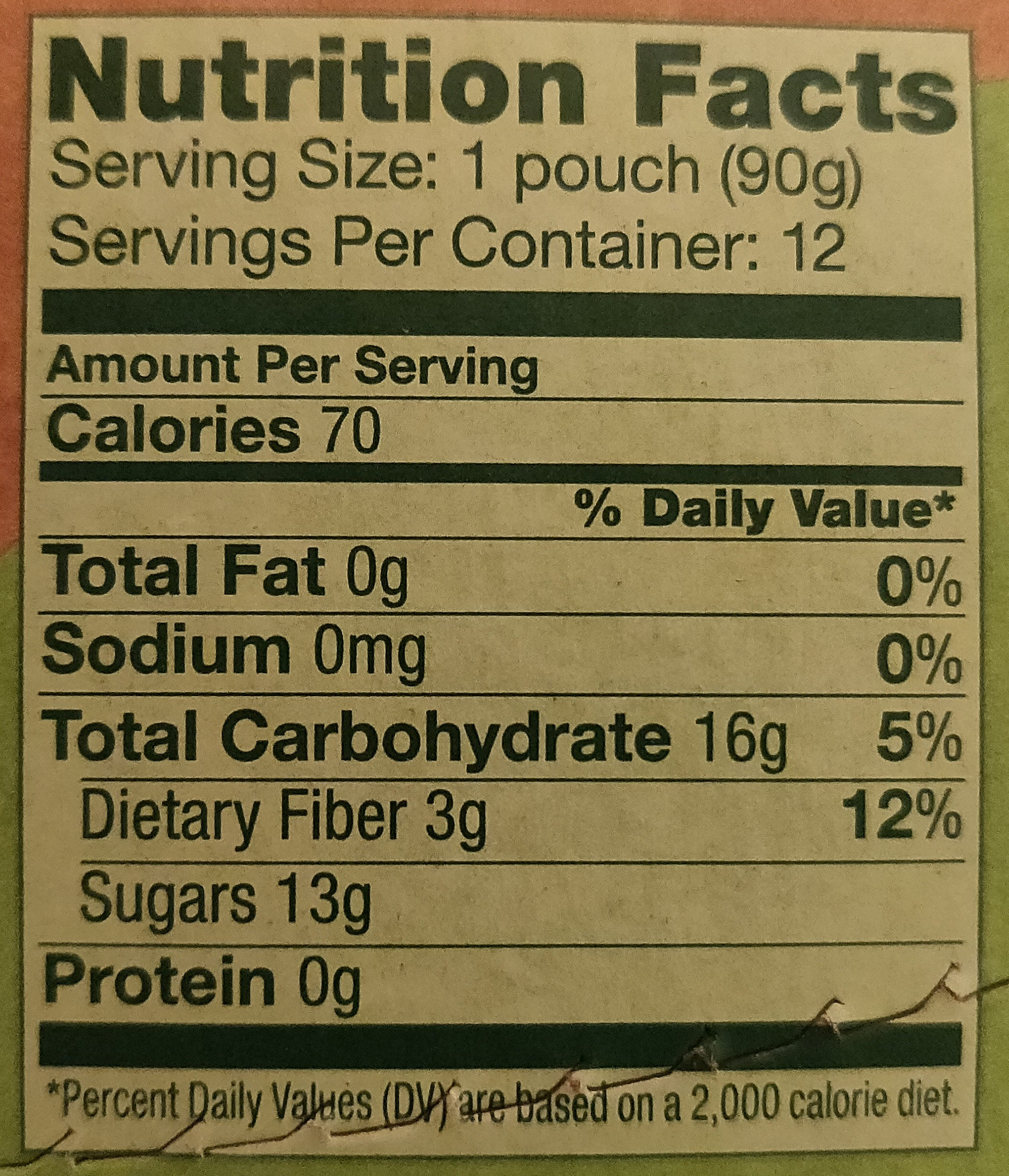 Applesauce - Nutrition facts - en