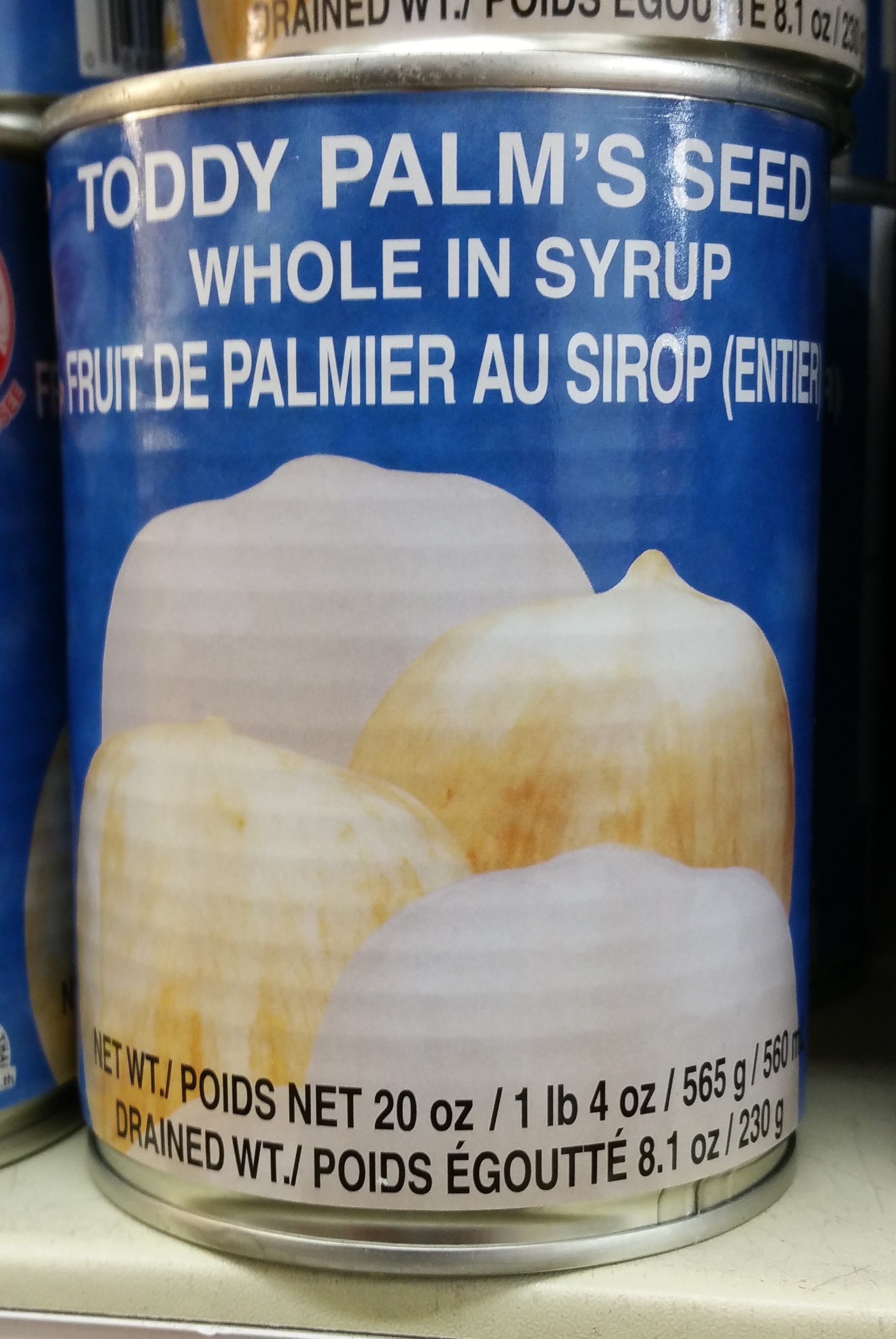 Toddy Palm's Seed whole in syrup - Produit