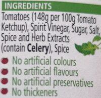 Heinz Tomato Ketchup - Ingredients - en