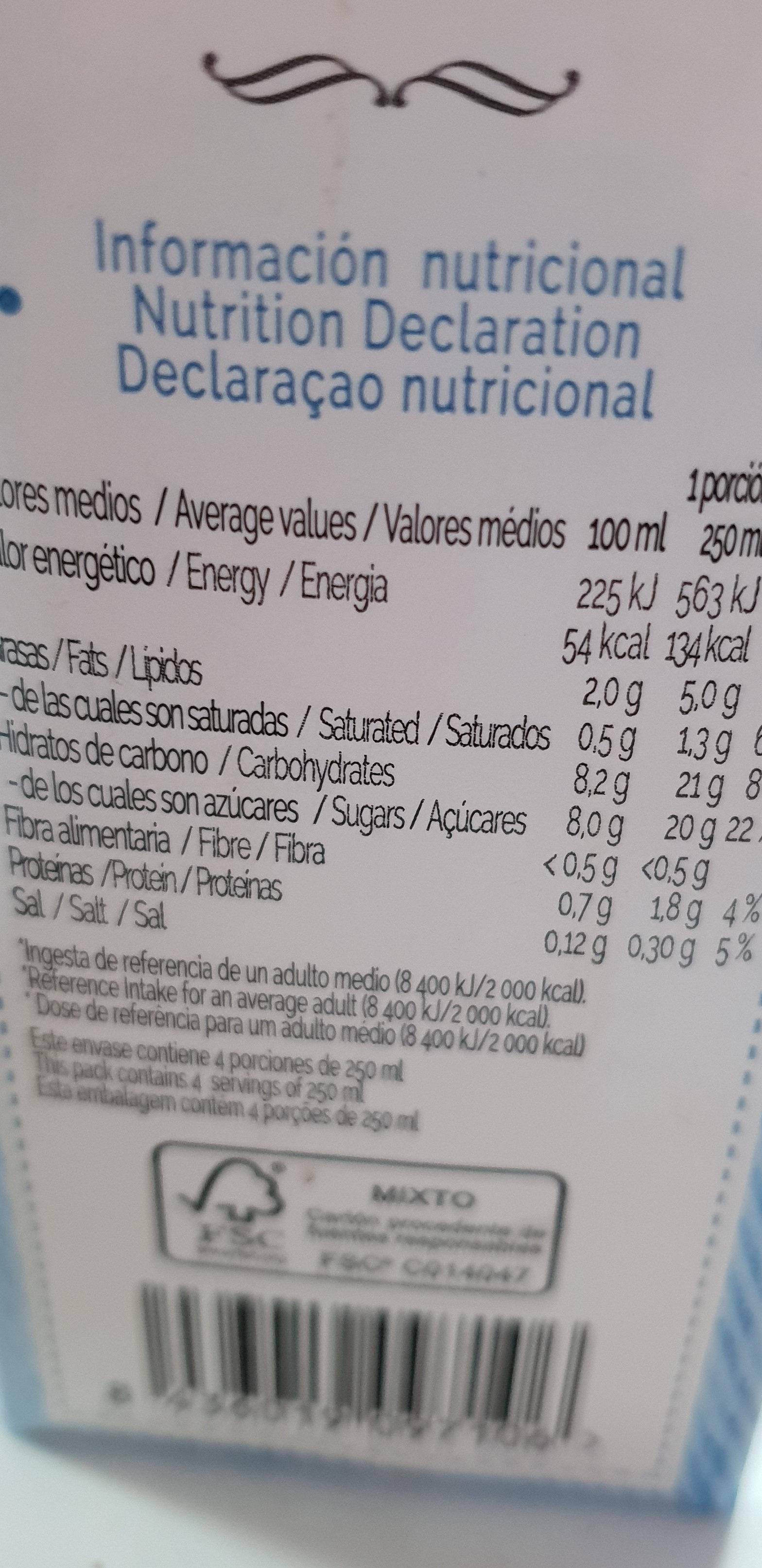 Bebida de almendras - Ingredients