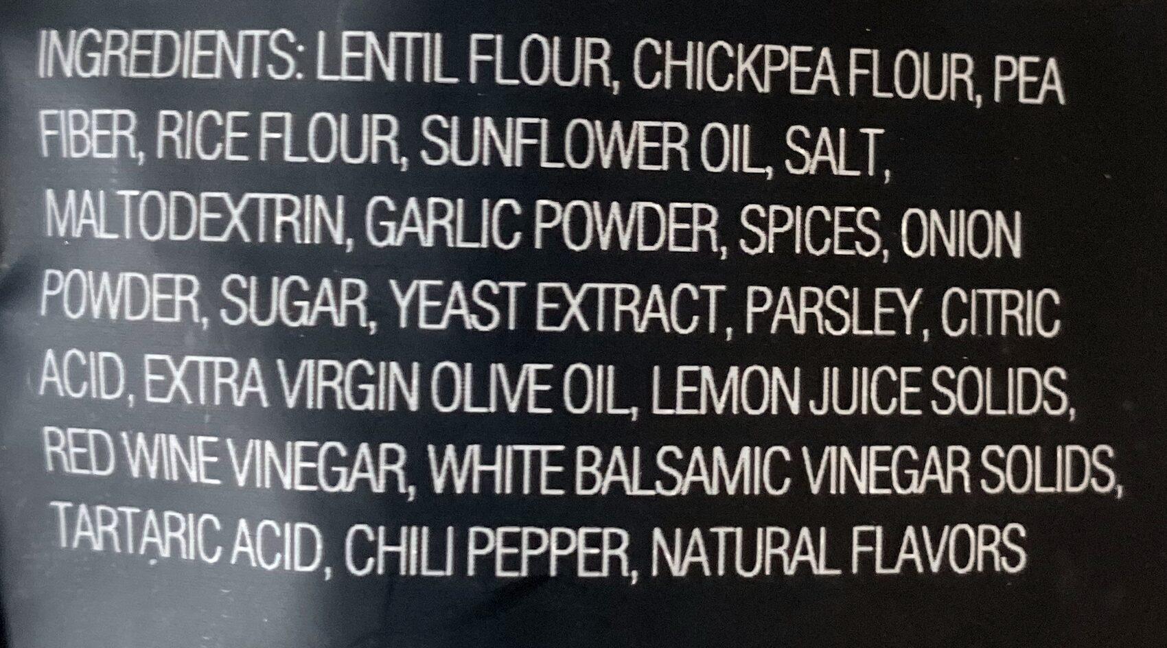 Garlic herb a blend of lentils, chickpeas, peas + rice - Ingredients - en