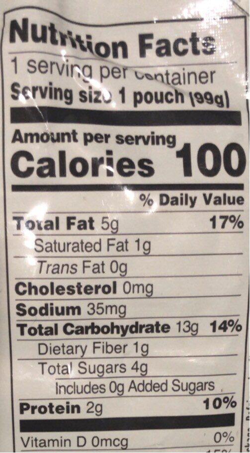 Organic sweet potatie & spinach - Nutrition facts - en
