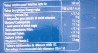 capri-sun - Informations nutritionnelles - fr