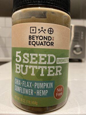 5 Seed Butter Unsweetened - Produit - fr